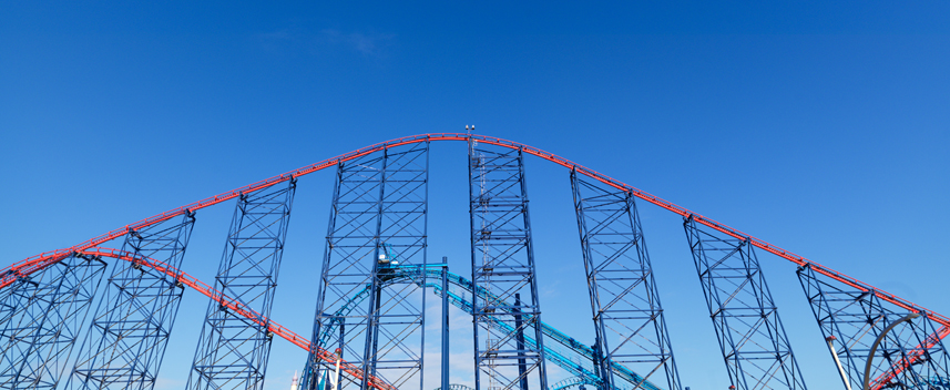 Big One Roller coaster at Pleasure Beach