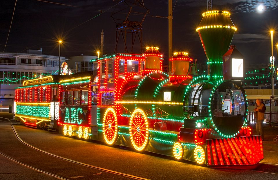 World First: Illuminated Trams on Parade!