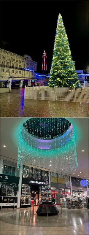 Blackpool Christmas Lights Town Centre 2020