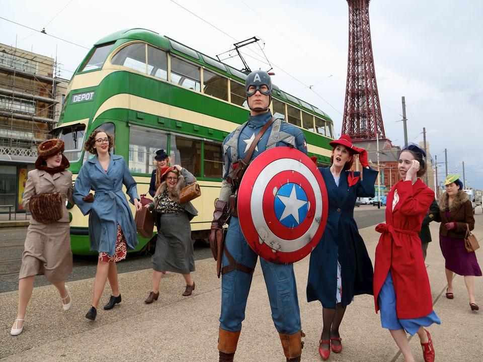 Blackpool Turns Back Time to Welcome the Ultimate American War Hero!