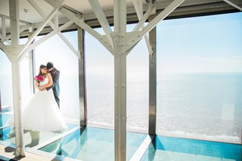 Couple at Blackpool Tower Eye