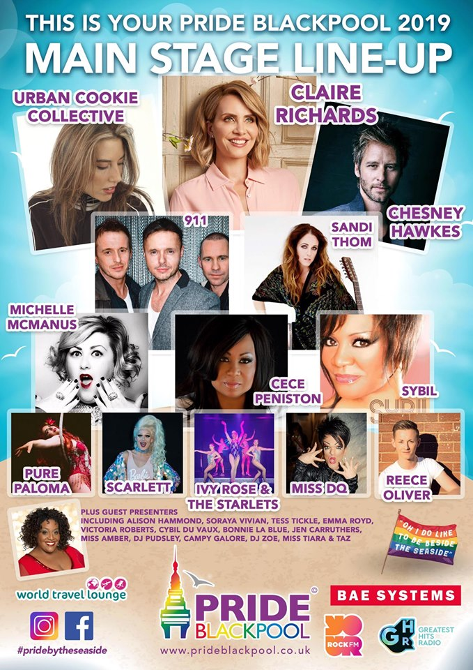 Pride Blackpool Line-Up