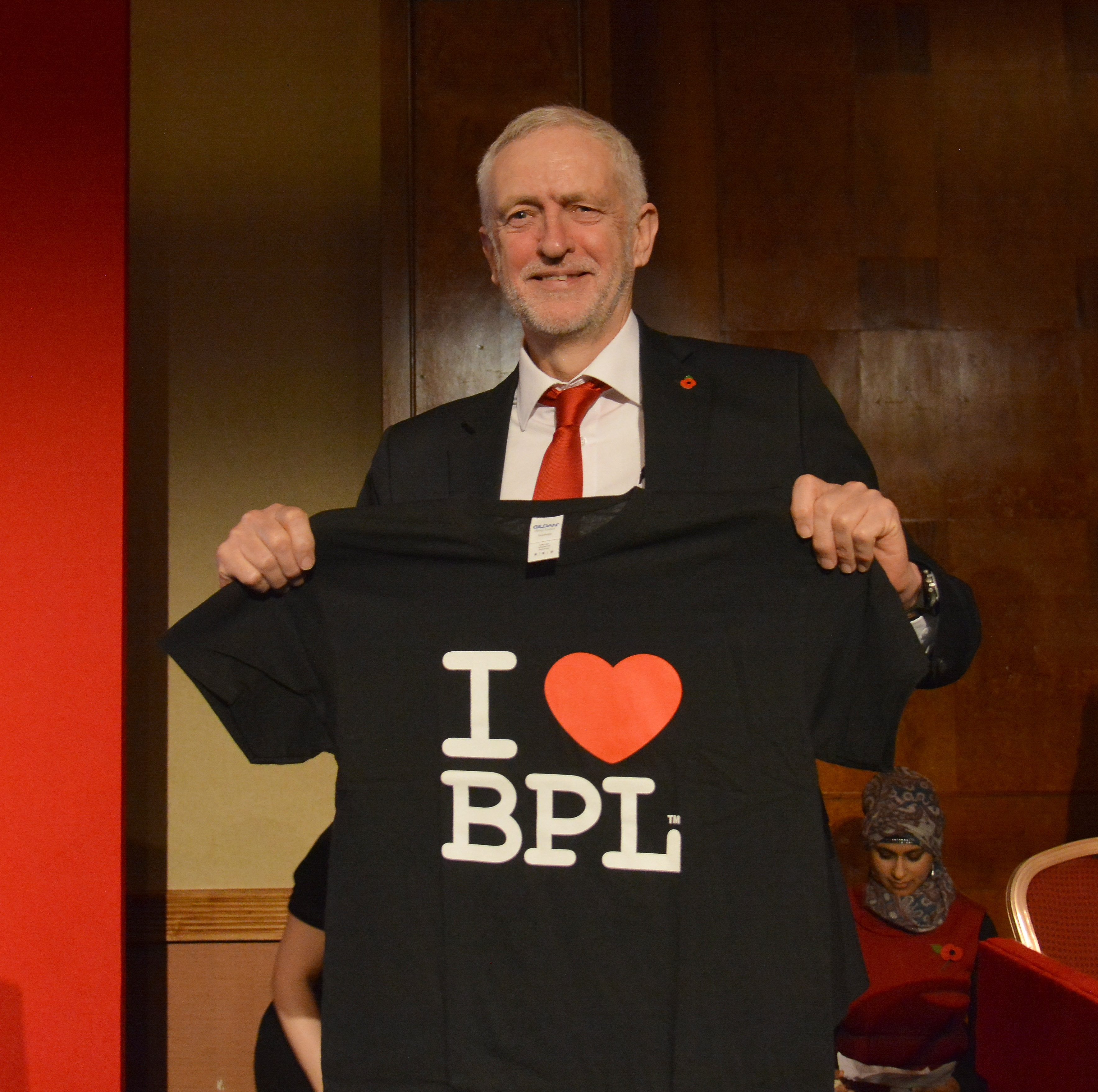 Jeremy Corbyn MP shows the love for Blackpool at the North West Labour Party Conference