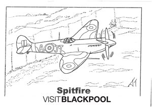 Spitfire Colouring Sheet