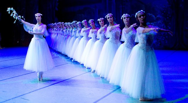 ballet dancers at Blackpool Grand Theatre