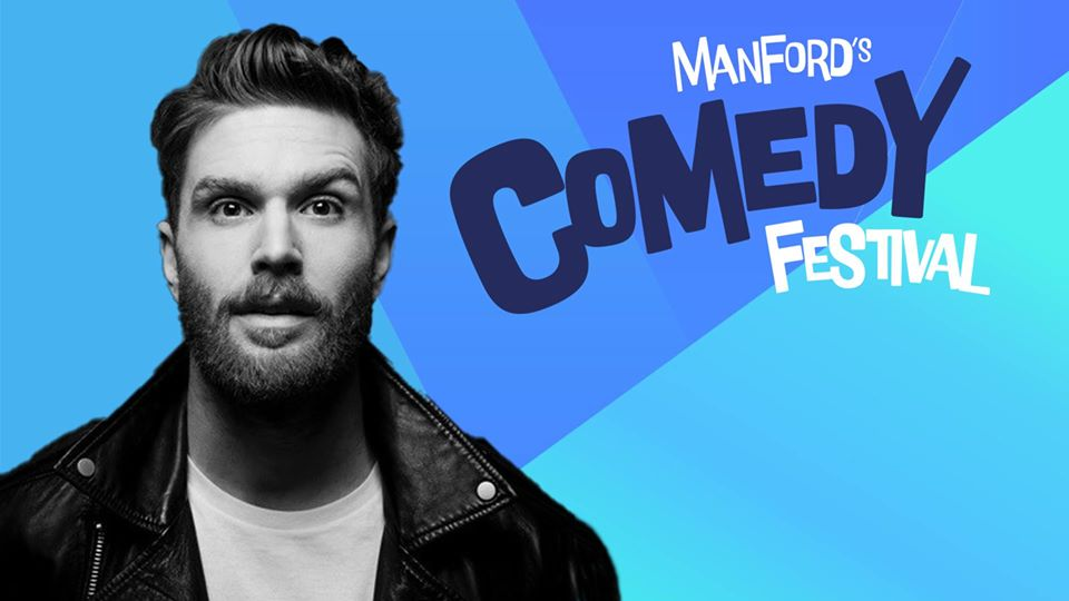 Host announcement for Manford's Comedy Festival
