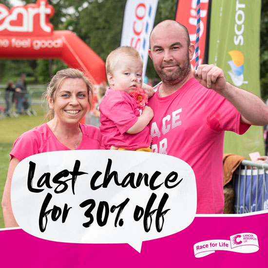 Main image for Race For Life Blackpool 2021 article