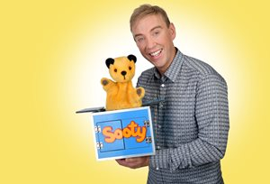 Richard Cadell and Sooty