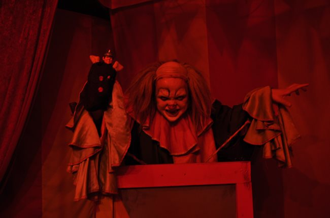 Scary clown from Pasaje de Terror